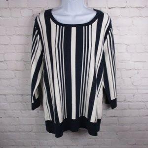 New York & Company Striped Sweater